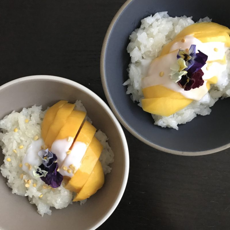 Thai mango sticky rice khao neow mamuang bellyful life thai mango sticky ricekhao neow mamuang inspired by david thompsons thai street food cookbook by bellyfullife forumfinder Images